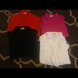 SET OF 4 button down blouses !